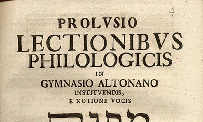 Schulprogramm des Christianeums, datiert auf 1738