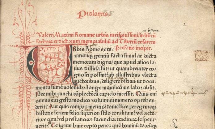 Inkunabel aus dem 15. Jahrhundert