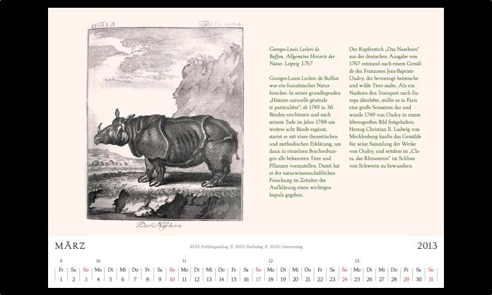 Kalender 2013 März